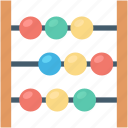abacus, abacus toy, baby, baby toy, counter icon