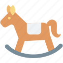 horse, horse ornament, horse toy, rocking chair, rocking horse icon