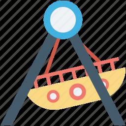 boat, dragon swing, ship swing, swing, swing boats icon