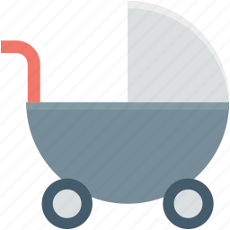 baby buggy, baby carriage, baby cart, baby transport, stroller icon