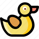 bath duck, duck, rubber duck, shower duck, toy duck icon