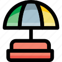 beach, garden, parasol, sunshade, umbrella icon