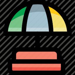 beach, garden, parasol, sunshade, umbrella icon
