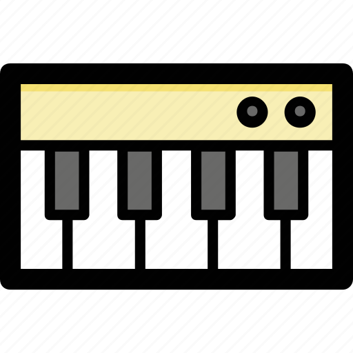 digital keyboard, electronic keyboard, piano, piano keyboard, portable keyboard icon