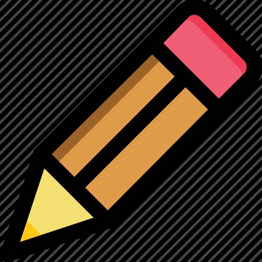 color pencil, crayon, pencil, stationery, writing icon