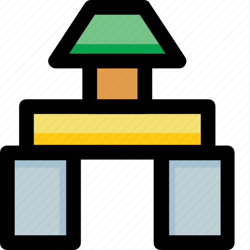 house, toy, toy house, tree icon