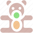 baby, bear, children, infant, kids, teddy, teddy bear, toys icon