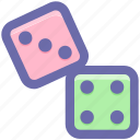 baby, dice, gamble, gambling, game, kids, roll, toy icon