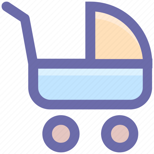 baby, baby buggy, care, infant, kids, products icon