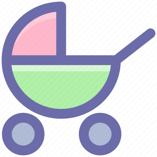 baby buggy, care, child, family, infant, kids, mother, parents icon
