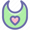 babies, baby, bib, children, food, kids, mess, protect, small icon