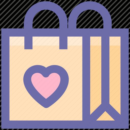bag, child, fashion, heart, purse, shopping bag, toys bag icon