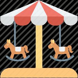 amusement ride, carousel, funfair, horse carousel, merry go round icon