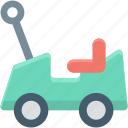 baby toy, car, toy car, vehicle, vehicle toy icon