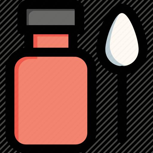 drugs, medicine, medicine jar, spoon, syrup icon