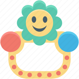 baby rattle, baby toy, infancy, rattle, toy icon