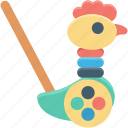 animal, baby toy, bird toy, duck toy, toddlers toy icon