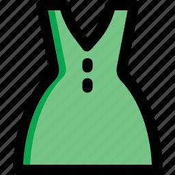 clothes, dress, frock, strap dress, women's apparel icon