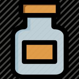 bottle, container, jar, kitchenware, milk bottle icon