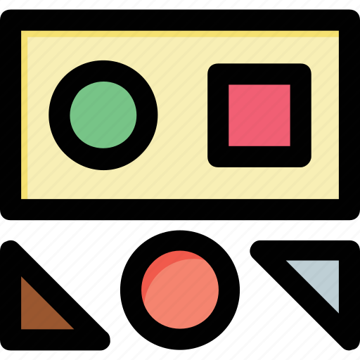 circle, geometrical shapes, graphic element, square, triangle icon