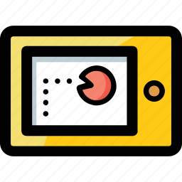 computer game, mobile game, pacman game, video game icon