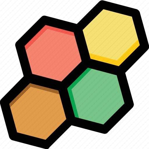 cells, connection, design element, hexagonal pattern, molecular structure icon