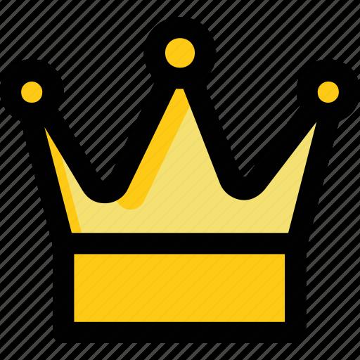 crown gold crown headgear nobility royal crown icon
