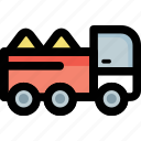 construction vehicle, industrial transport, lorry, transport, truck icon