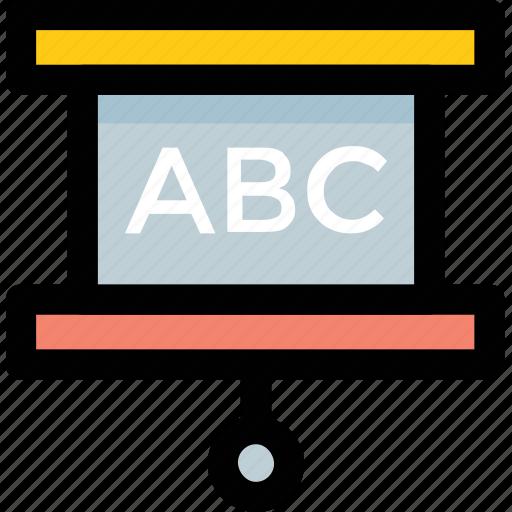 classroom, kindergarten, nursery, preschool, whiteboard icon