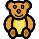 cartoon teddy, fluffy toy, kids toy, teddy bear, toy teddy icon