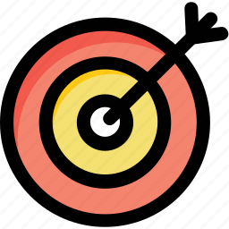 arrow, competition, dartboard, goal, target icon