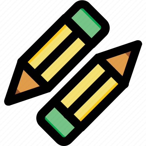 crayons, edit, pencils, stationery, writing icon