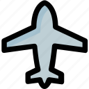 aeroplane, air jet, aircraft, airplane, plane icon