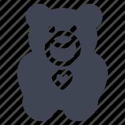 animal, baby, bear, maternity, teddy, toy icon
