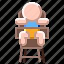 baby, chair, feeding, high, seat