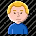 avatar, boy, child, face icon