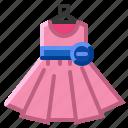 child, clothing, dress, girl, kid icon