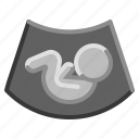 baby, fetus, pregnant, technology, ultrasound icon