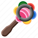 baby, child, play, rattle, toy icon