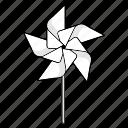 five, paper windmill, origami, wind, pinwheel