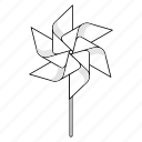 six, paper windmill, origami, wind, pinwheel