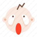 baby, child, emoji, emoticon, emotion icon