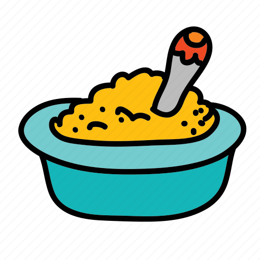 baby, bowl, child, food, spoon icon