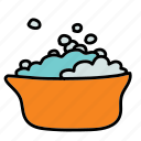 baby, bath, bubbles, child, tub, water icon