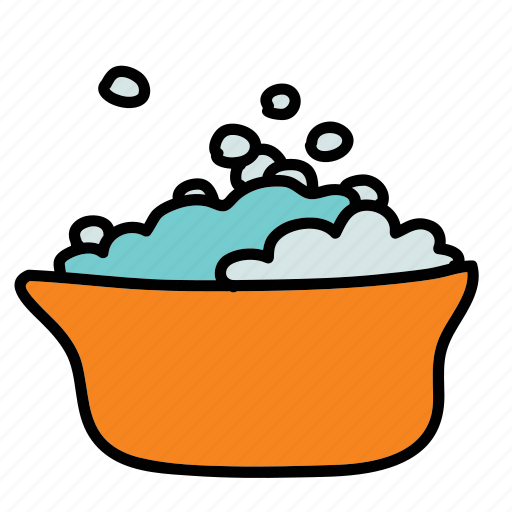 baby, bath, bubbles, child, tub, water icon