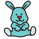 baby, bunny, child, cuddle, sleep, toy icon