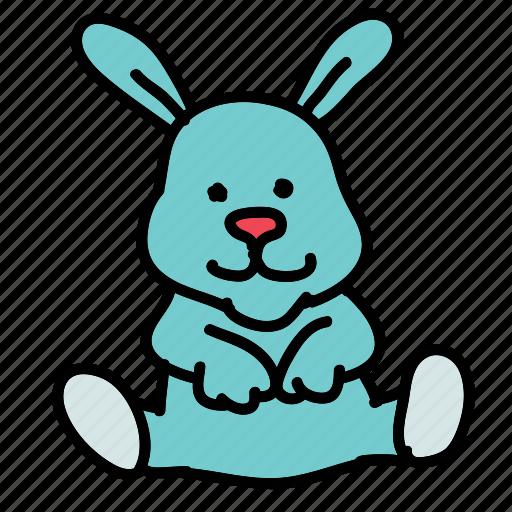 baby, bunny, child, cuddle, sleep, toy icon