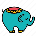 baby, cuddle, decorate, elephant, game, toy icon