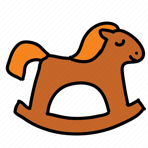 animal, baby, game, horse, rocking, toy icon
