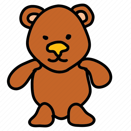 baby, bear, child, cuddle, sleep, teddy, toy icon